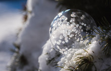 Soap Bubble Freezing In A Snow...