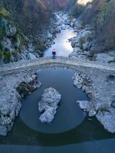 Aerial Devil Bridge In Bulgaria