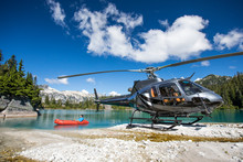 Helicopter Pilot Floats On Lak...