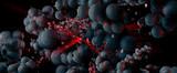 Renderowania 3D abstrakcyjnej technologii cyfrowej koncepcji technologii cześć