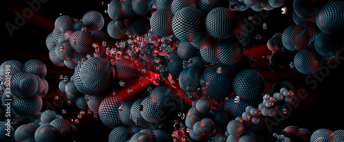 Cuadros en Lienzo 3D rendering of abstract technology digital hi tech concept