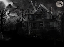 Spooky Old Haunted House In Th...