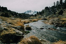 Stream Flows Away From Snow Co...