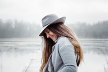 Profile Of A Woman With Long B...