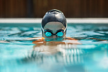 Close Up Of Female Swimmer In ...