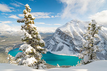 Snowy Lake Louise, Banff, Albert, Canada