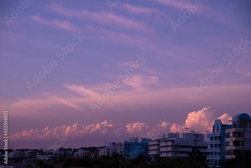 Pink Sunset. Canvas Print