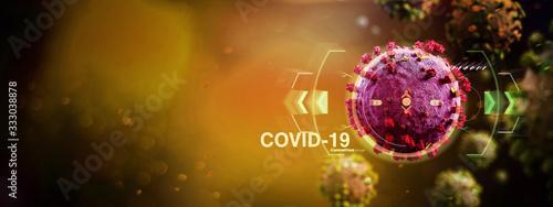 Obraz Coronavirus Covid-19 background - 3d rendering - fototapety do salonu