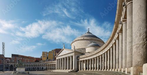 Fotografie, Tablou Naples, piazza del Plebiscito.
