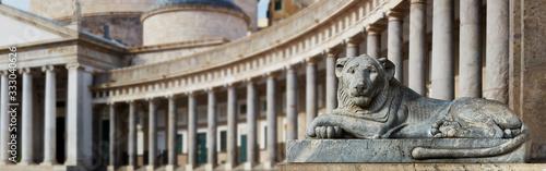 Valokuvatapetti Naples, piazza del Plebiscito, detail.