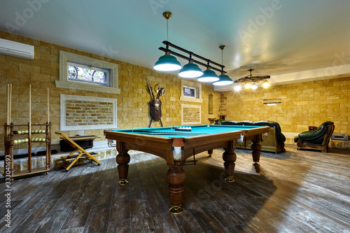 billiard room Canvas Print
