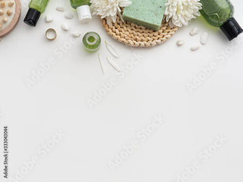 Photo Spa cosmetic background.