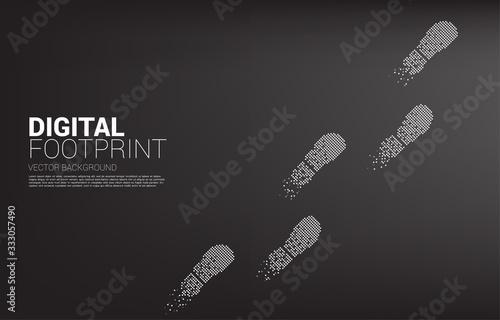 Footprint from digital dot pixel Poster Mural XXL