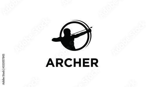 Photo Symbol Archer Vector Logo Design Inspirations