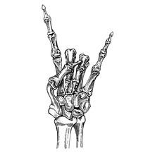 Skeleton Hand. Rock-n-roll Star. Heavy Metal, Rock Music.