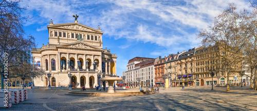 Frankfurt am Main, Alte Oper und Opernplatz Tableau sur Toile