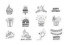 Birthday Set. Vector Birthday ...