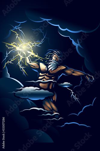 The Wrath of Zeus Canvas Print
