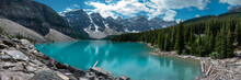 Panoramic View Of Moraine Lake...