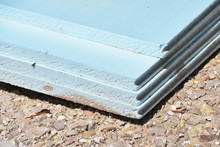 Stack Of Blue Styrofoam