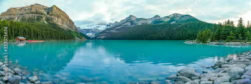 Iconic & stunning Lake Louise in Alberta, Canada Canvas