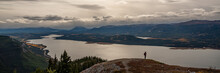 Overlooking The Vast And Expansive Yukon Wilderness Landscape. Canada In Autumn.