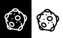 Space - Outline Icons Vector D...
