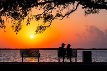 Silhouettes Of Man And Woman S...