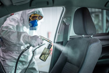 Clean Surfaces In Car With A D...