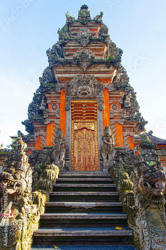 Beautiful Saraswati Temple at early morning in Ubud; Indonesia Canvas Print