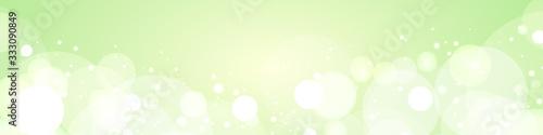 Obraz 背景素材:グリーン バックグラウンド バブル 泡 メロンソーダ 木漏れ日 森 リーフ シャボン玉 - fototapety do salonu