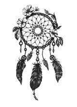 Dreamcatcher With Feathers And...