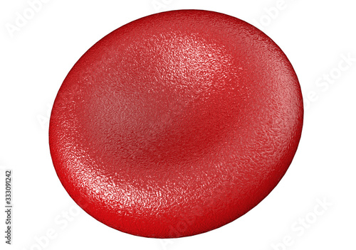 3d red blood cell isolated on white backgroun Canvas Print