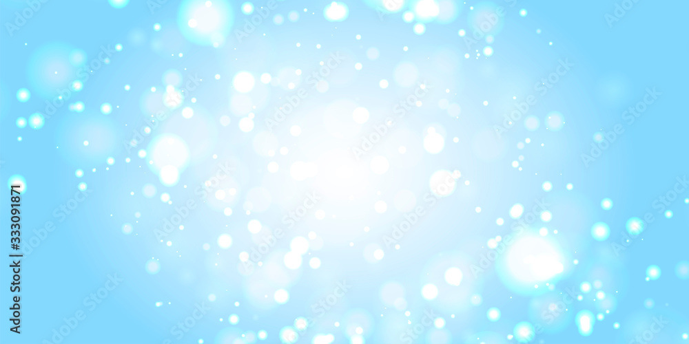 Fototapeta マスター2背景素材:玉ボケ 海 水 背景 ゴージャス 青色 クリスマス 雪 冬 水しぶき 波 キラキラ