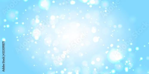 マスター2背景素材:玉ボケ 海 水 背景 ゴージャス 青色 クリスマス 雪 冬 水しぶき 波 キラキラ Wallpaper Mural