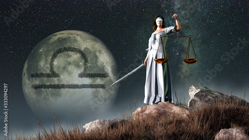 Libra is the sixth sign of the Zodiac Canvas Print