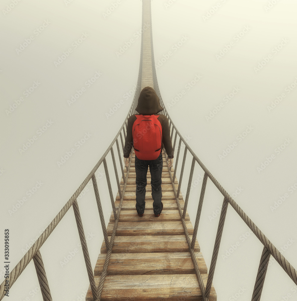Fototapeta Bridge fog