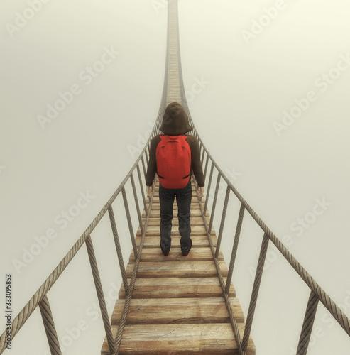 Obraz Bridge fog - fototapety do salonu