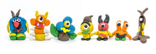 Play Dough Group Monsters On W...