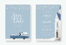 Set Of Wedding Cards, Invitati...