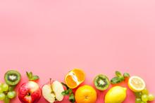 Fresh Fruits Background With C...