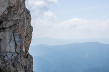 Hohe Steile Felswand Beim Klet...