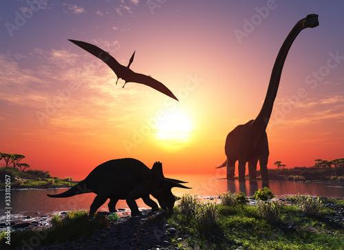 Fototapeta The dinosaur