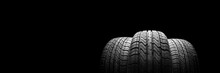 A  Black Isolation Rubber Tire...