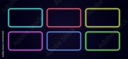 Fotografiet Neon rectangle