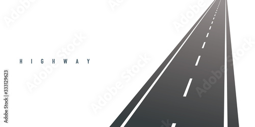 Cuadros en Lienzo Highway vector illustration