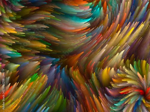Fotografía Swirling Paint