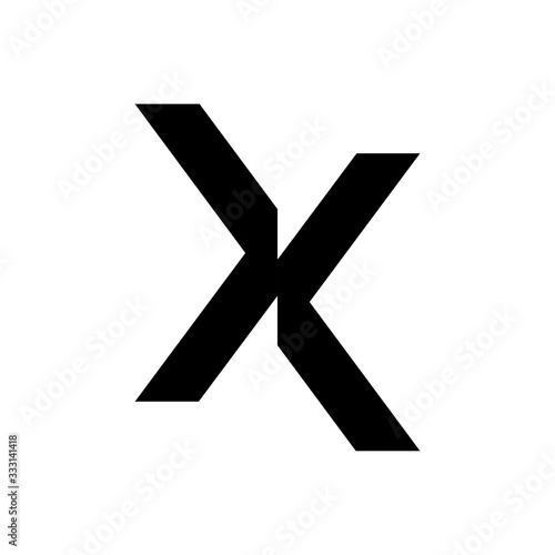 Photo initial letter x cut off vector logo