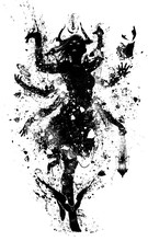 Black Silhouette Of A Deity Gi...