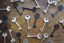 Many Keys On Brown Wooden Back...